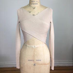 NWOT H&M Faux Wrap Knit Top